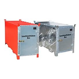 Leuchtstoffröhrenbox BAUER SL 200, Stahlblech, unterfahrbar, abschließbar, Tür verzinkt, B 2100 x T 770 x H 1125 mm, rot
