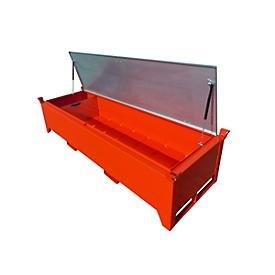 Leuchtstoffröhrenbox BAUER SL-N 220, Stahlblech, unterfahrbar, Deckel verzinkt, herausnehmbare Trennwand, B 2300 x T 800 x H 530 mm, rot