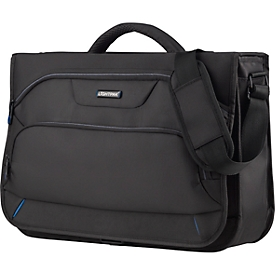 LIGHTPAK Messengerbag Solar, met draaggreep, met laptopvak, polyester, zwart