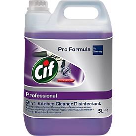 Limpiador desinfectante Cif Professional 2en1, sin perfume, EN 1276, 5 l