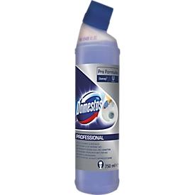 Limpiador y desincrustante de WC Domestos Professional, con ácido sulfónico, neutralizador de fragancias, 750 ml