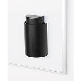 Limpiapizarras tipo 89129, magnético, incl. portarrotuladores magnético, negro