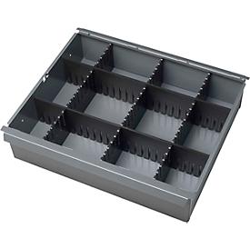 Listones encajables, 3 x profundidad, 2 x anchura, adecuados para cajones Al 65