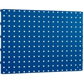 Lochplatte, 660 x 480 mm, enzianblau RAL 5010