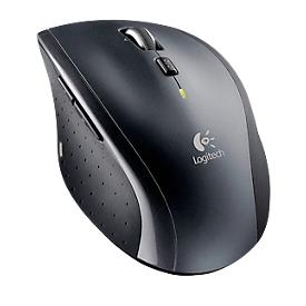 Logitech draadloze muis Marathon M705, voor rechtshandigen, ergonomisch, 7 knoppen & scrollwiel, 1000 dpi, tot 10 m, incl. Unifying-ontvanger & batterijen, zwart