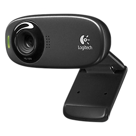 Logitech® Webcam C310, HD-Video 1280 x 720 px, Foto 5 MP, Mikrofon, Geräusch- & Lichtfilter, 1-Klick-HD-Upload, USB 2.0, Universalhalterung, USB-Kabel