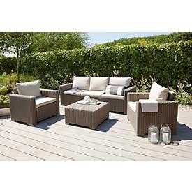 Lounge-gorep MOMBASA 4-delig, cappucino/zand