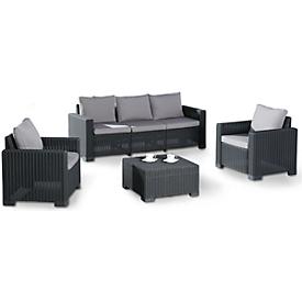 Lounge-gorep MOMBASA 4-delig, grafiet/licht grijs