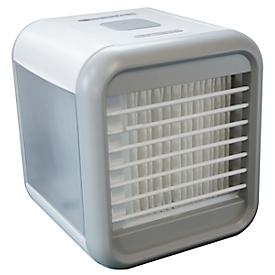 Luchtreiniger Fresh Cube, 4-in-1, 8 W vermogen, 3 ventilatiestanden, 7-kleurige LED-verlichting, incl. USB-voeding, wit