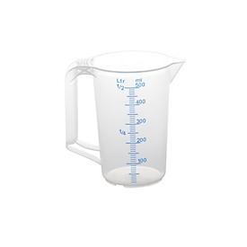 Maatbeker, polypropyleen, 500 ml, transparant