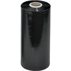 Machinestretchfolie, zwart, 23 my, 1700 m lang