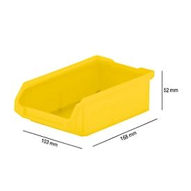 Magazijnbak SSI Schäfer LF 210, polypropeen, L 168 x B 103 x H 52 mm, 0,5 l, geel