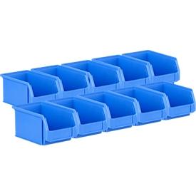 Magazijnbak SSI Schäfer LF 221, polypropeen, L 234 x B 150 x H 122 mm, 2,7 l, blauw, 10 stuks