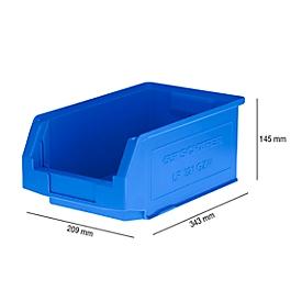 Magazijnbak SSI Schäfer LF 321, polypropeen, L 343 x B 209 x H 145 mm, 7,5 l, blauw
