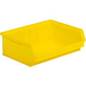 Magazijnbak SSI Schäfer LF 351 ZW, polypropeen, L 348 x B 470 x H 145 mm, 17 l, geel
