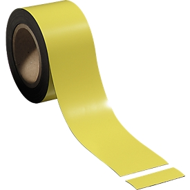 Magneetband, geel, 70 mm x 100 m