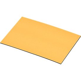 Magnet-Lagerschilder, gelb, 20 x 60 mm