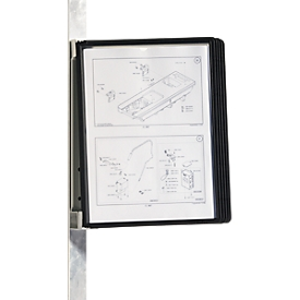 Magnet-Wandhalter-Set VARIO WALL, inkl. 5 Tafeln, schwarz