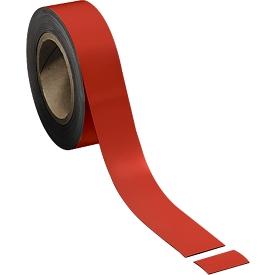 Magnetband, hellrot, 40 x 10000 mm