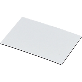 Magnetische magazijnkaartjes, wit, 20 x 60 mm