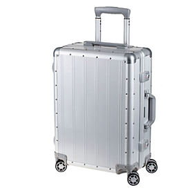 Maleta de viaje trolley, aluminio, sistema telescópico, candados TSA, ruedas dobles 360°, An 400 x P 200 x Al 540mm