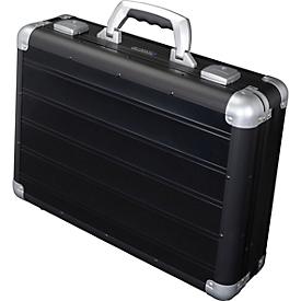 Maletín para documentos ALUMAXX VENTURE, con asa de transporte, 1 compartimento, negro
