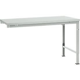 Manuflex Ansatztisch UNIVERSAL Spezial, Tischplatte Melamin, 1500x1000, lichtgrau