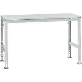 Manuflex basistafel UNIVERSAL Standaard, tafelblad melamine, 1500 x 800, lichtgrijs