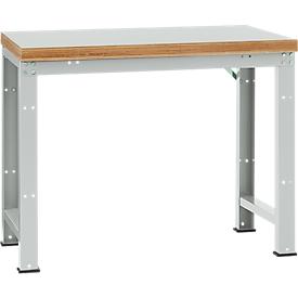 Manuflex werkbank Profi standaard, Tafelblad kunststof B 1250 x D 700, lichtgrijs
