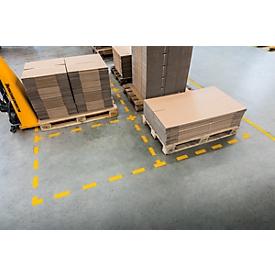 Marcado de suelo Durable, autoadherente en forma de L, para suelos, 10 unidades