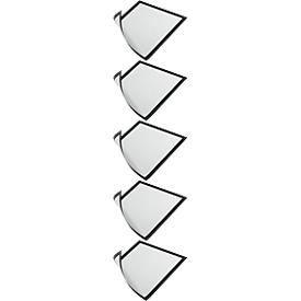 Marcos magnéticos DURABLES DURAFRAME MAGNETIC, DIN A4, negro, 5 piezas
