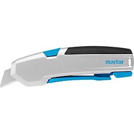 MARTOR Breekmesje SECUPRO 625, handvat met tangsysteem, ergonomische Soft Grip handvat, snijdiepte 21 mm, automatische terugtrekking van het lemmet