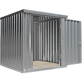 Materiaalcontainer MC 1200, gegalvaniseerd, ongemonteerd, zonder bodem