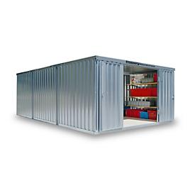 Materiaalcontainer model 1460, gegalvaniseerd, ongemonteerd, zonder bodem