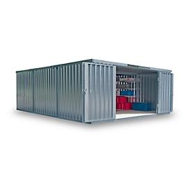 Materiaalcontainer model 1560, gegalvaniseerd, ongemonteerd, zonder bodem
