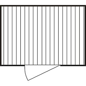 Materialcontainer MC 1300, verzinkt, zerlegt, mit Holzfußboden