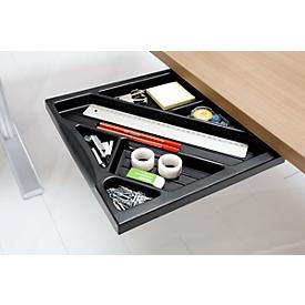 Materialschublade für Schreibtische, schwarz