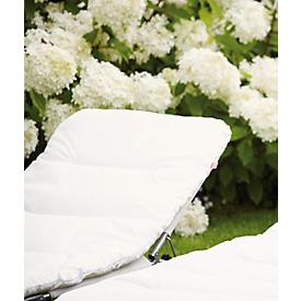 Matras voor ligbed, met vliesvulling, wit