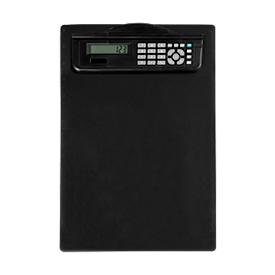 MAUL klembord, A4, kunststof, met rekenmachine, zwart