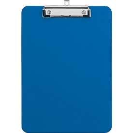MAUL Klemmbrett, DIN A4, Kunststoff, mit Aufhängeöse, blau
