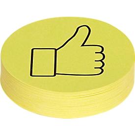 Maul Moderationskarten Daumen, f. Meinungsabfragen/Stimmzettel, 100 Stück
