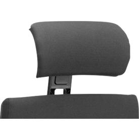 Mehrpreis Kopfstütze für Bürostuhl SSI Project CO 2350/OI 2530/SC 2340, ergonomische Halbrund-Formung, verstellbar, schwarz