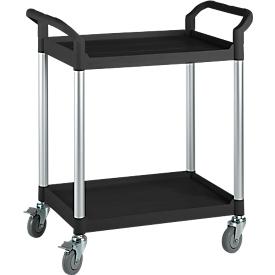 Mehrzweck-Tischwagen, 2 Etagen, schwarz