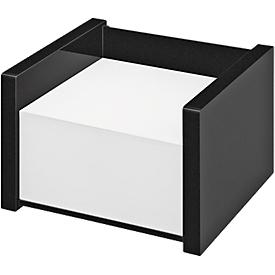 Memoblokhouder WEDO Black Office, zwart gematteerd/glanzend, met 500 memovellen,