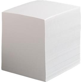 Memonavulling, wit, 90 x 90 x 90 mm, 700 vellen