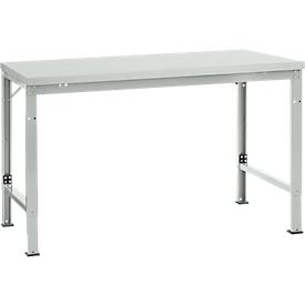 Mesa básica Manuflex UNIVERSAL especial, 1500 x 1000mm, melamina gris luminoso, gris luminoso