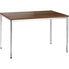 Mesa de reuniones, 1200 x 800mm, acabado en nogal