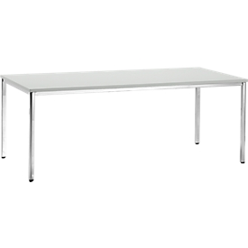 Mesa de reuniones, 2000 x 800mm, gris luminoso