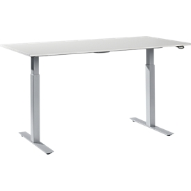 Mesa de trabajo ajustable en altura, melamina, 1600 x 800mm