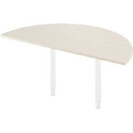 Mesa extensible, Ø 1600 mm, acabado arce/blanco